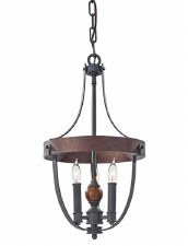 Feiss Alston 3 Light Iron Ceiling Pendant Black