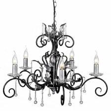 Elstead Amarilli 5 Light Chandelier Black Silver