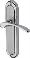 Heritage Ambassador Latch Door Handles AMB6210 Satin & Pol Chrome