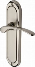 Heritage Ambassador Latch Door Handles AMB6210 Satin & Polished Nickel