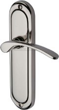 Heritage Ambassador Latch Door Handles AMB6210 Polished Nickel