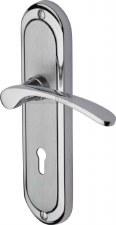 Heritage Ambassador Door Lock Handles AMB6200 Satin & Pol Chrome