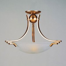 Amora Flush Ceiling Light Antique Brass