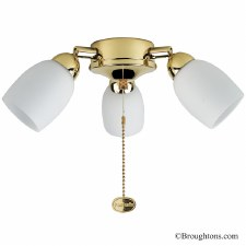 Amorie 3 Light Kit for Ceiling Fan Brass