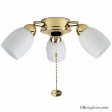 Amorie 3 Light Kit for Ceiling Fan Brass