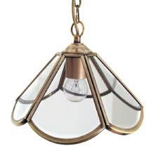 Anemone Ceiling Pendant Light Antique Brass