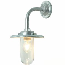 Angle Neck Outdoor Bracket Light Galvanized