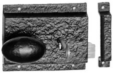 "Kirkpatrick 1204 Cast Iron Rim Lock 5"" Left Hand"
