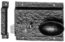 "Kirkpatrick 1204 Cast Iron Rim Lock 5"" Right Hand"