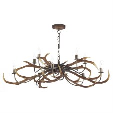 David Hunt STA2329 Stag 10 Light Chandelier