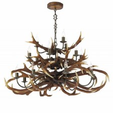 David Hunt ANT1729 Antler 17 Light Tiered Chandelier