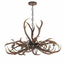 David Hunt ANT0829E Antler Emperor 8 Light Chandelier