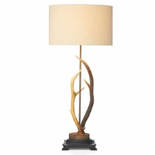 David Hunt ANT4229 Antler Table Lamp with Cream Shade