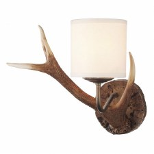David Hunt ANT0729S Antler Wall Light with Cream Shade