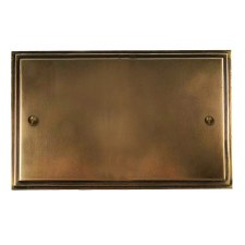 Edwardian Double Blank Plate Hand Aged Brass
