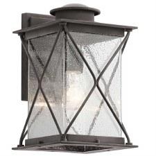 Kichler Argyle Outdoor Wall Lantern Medium Weathered Zinc