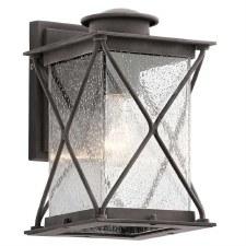 Kichler Argyle Outdoor Wall Lantern Small Weathered Zinc