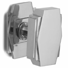 Croft Art Deco Centre Door Knob 7013 Polished Chrome