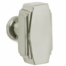 Croft 7006 32mm Art Deco Cupboard Door Knob Polished Nickel