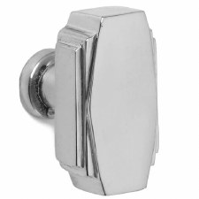 Croft 7006 38mm Art Deco Cupboard Door Knob Polished Chrome