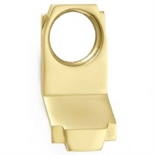 Croft Art Deco Cylinder Door Pull 7016 Polished Brass Unlacquered