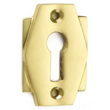 Croft Art Deco Escutcheon 7008 Polished Brass Unlacquered
