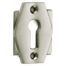 Croft Art Deco Escutcheon 7008 Polished Nickel