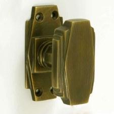 Croft 7005 Art Deco Knobs Antique Brass