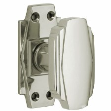Croft 7005 Art Deco Knobs Polished Nickel