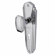 Heritage Charlston Door Knobs Lever Lock CHA1900 Polished Chrome