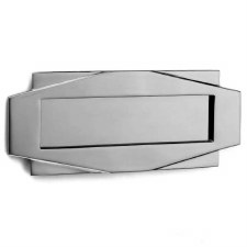 Croft Art Deco Letter Plate 7014 Polished Chrome