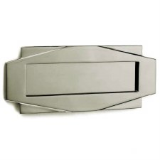 Croft Art Deco Letter Plate 7014 Polished Nickel