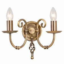 Elstead Artisan Double Wall Light Aged Brass
