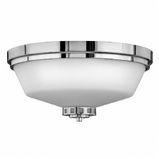 Hinkley Ashley Bathroom Flush Light Polished Chrome