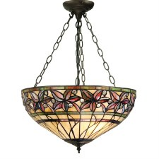 Interiors 1900 Ashtead Inverted Tiffany Ceiling Pendant Light