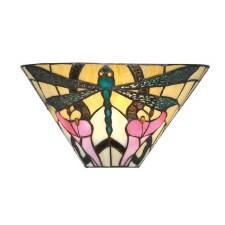Interiors 1900 Ashton Tiffany Flush Wall Light 63926