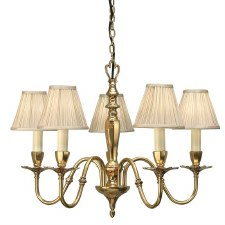 Interiors 1900 Asquith 5 Light Chandelier with Shades