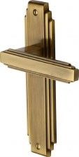 Heritage Astoria Latch Door Handles AST5910 Antique Brass Lacquered