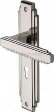 Heritage Astoria Door Lock Handles AST5900 Polished Nickel