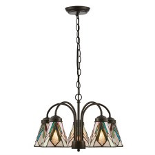 Interiors 1900 Astoria Tiff 5 Light Down Pendant 74348