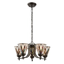 Interiors 1900 Astoria Tiffany 5 Light Up Pendant 74347