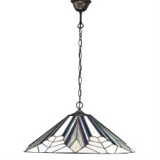 Interiors 1900 Astoria Tiffany Large Ceiling Pendant Light
