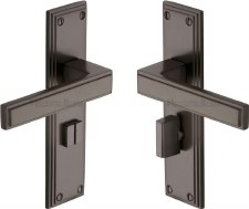 Heritage Atlantis Bathroom Door Handles ATL5730 Matt Bronze