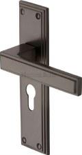Heritage Atlantis Euro Lock Door Handles ATL5748 Matt Bronze