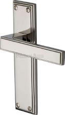 Heritage Atlantis Latch Door Handles ATL5710 Polished Nickel