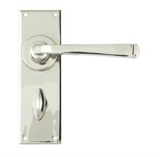 From The Anvil Avon Lever Bathroom Door Handle Set Polished Nickel