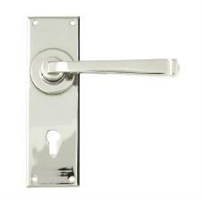 From The Anvil Avon Lever Lock Door Handle Set Polished Nickel