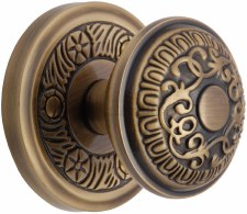 Heritage Aydon Mortice Knobs AYD1324 Antique Brass