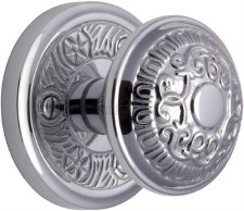 Heritage Aydon Mortice Knobs AYD1324 Polished Chrome