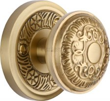Heritage Aydon Mortice Knobs AYD1324 Satin Brass